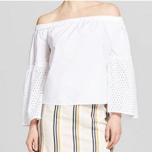 Who What Wear bell sleeve off shoulder top XS